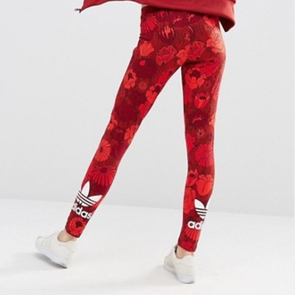 da050fd38d246 adidas Pants   Originals Floral Leggings With Trefoil Logo   Poshmark